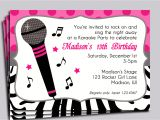 Karaoke Party Invitation Template Karaoke Party Invitation Printable Sing by thatpartychick