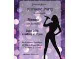 Karaoke Party Invitation Template Karaoke Party Invitation Zazzle Com
