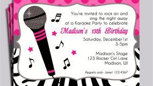 Karaoke Party Invitation Templates Karaoke Party Invitation Wording