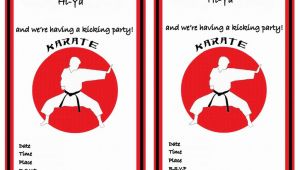Karate Birthday Invitation Template Karate Birthday Invitations Birthday Printable