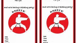 Karate Birthday Invitation Template Karate Birthday Invitations Birthday Printable