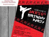 Karate Party Invitation Template Boy Karate Birthday Invitation Karate Birthday Karate