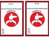 Karate Party Invitation Template Karate Birthday Invitations Birthday Printable