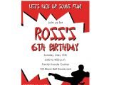 Karate Party Invitation Template Karate Birthday Invitations for Kids Bagvania Free