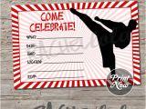 Karate Party Invitation Template Karate Birthday Party Invitation Printable Template