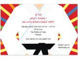 Karate Party Invitation Template Karate Chop Birthday Invitations by Invitation