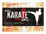 Karate Party Invitation Template Karate Party Invitation Zazzle