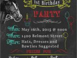Kentucky Derby Party Invitation Ideas Kentucky Derby themed Birthday Party Invitations Chalkboard