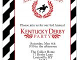 Kentucky Derby Party Invitation Template Classic and Beautiful Kentucky Derby Party Invitation I