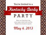 Kentucky Derby Party Invitation Template Kentucky Derby Party Ideas and Menu Bakin 39 Bit