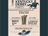 Kentucky Derby Party Invitation Template Kentucky Derby Party Invitation Classic Style with