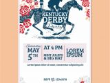 Kentucky Derby Party Invitation Template Kentucky Derby Party Invitation Classic Style with Rose