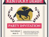 Kentucky Derby Party Invitation Template Kentucky Derby Party Invitation Vector Download Free