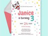 Kid Party Invitation Template 40 Kids Birthday Invitation Templates Psd Ai Word