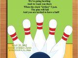 Kids Bowling Birthday Party Invitations Birthday Invites Bowling Birthday Party Invitations Free