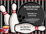 Kids Bowling Birthday Party Invitations Bowling Party Invitations Templates Ideas Bowling Party