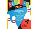 Kids Bowling Birthday Party Invitations Retro Bowling Kid S Birthday Party Invitation