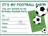 Kids Football Party Invitations Football Invites Kids Children 39 S Boys Football Birthday