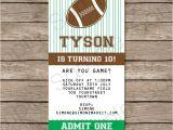 Kids Football Party Invitations Football Ticket Invitation Template Ticket Invitations