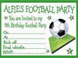 Kids Football Party Invitations Personalised Invites Childrens Boys Football Birthday