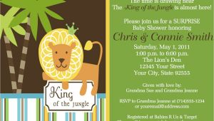 King Of the Jungle Baby Shower Invitations King Of the Jungle Baby Shower Invitation Reserved Listing for