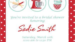 Kitchen themed Bridal Shower Invitations Bridal Shower Invitations Free Kitchen Bridal Shower
