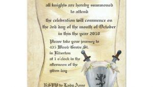 Knight Birthday Invitation Template Medieval Knight Birthday Invitation Zazzle
