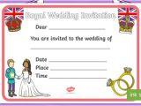 Ks1 Wedding Invitation Template Design A Royal Wedding Invitation Activity Harry and