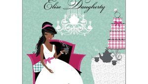 Ladies Tea Party Invitations Ladies Tea African American Bridal Shower Invitations