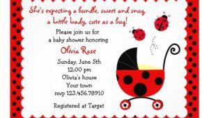 "Ladybug Baby Shower Invites Ladybug Baby Shower Invitations 5"" X 7"" Invitation Card"