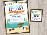 Lake Party Invitation Templates Free Lake Birthday Party Invitations Summer Party Printable