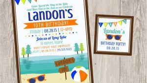 Lake Party Invitations Lake Birthday Party Invitations Summer Party Printable