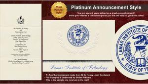 Lamar University Graduation Invitations Lamar Institute Of Technology Graduation Announcements