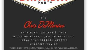 Las Vegas themed Birthday Invitations 31 Best Images About Invitation Ideas for Casino Nights On