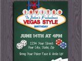 Las Vegas themed Birthday Invitations Printable Birthday Party Invitation Las Vegas Birthday
