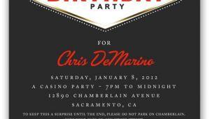 Las Vegas themed Birthday Party Invitations 17 Best Ideas About Las Vegas Party On Pinterest