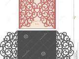 Laser Cut Wedding Invitation Templates Laser Cut Envelope Template for Invitation Wedding Card
