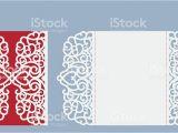 Laser Cut Wedding Invitation Templates Laser Cut Wedding Invitation Card Template Vector Stock
