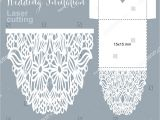 Laser Cut Wedding Invitation Templates Vector Die Laser Cut Envelope Template Stock Vector