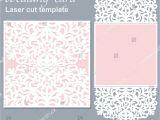 Laser Cut Wedding Invitation Templates Vector Die Laser Cut Wedding Card Stock Vector 400481380