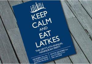 Latke Party Invitation Items Similar to Quirky Fun Hanukkah Party Invitation