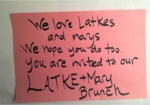 Latke Party Invitation Latke Mary 2015 Invitation On Vimeo