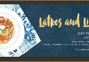 Latke Party Invitation Religious Free Online Invitations