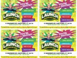 Launch Trampoline Park Birthday Invitations Invites