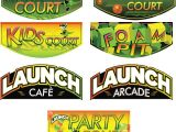 Launch Trampoline Park Birthday Invitations Launch Trampoline Park Signage On Risd Portfolios