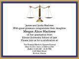 Law School Graduation Invitations Templates Graduation Invitations Easyday