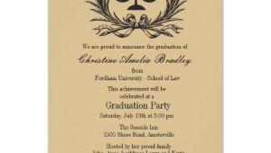 "Law School Graduation Party Invitations Templates Justice Wreath Law School Graduation Invitation 5"" X 7"