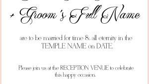 Lds Wedding Invitation Template 8 Lds Wedding Invitation Wording Samples Lds Wedding