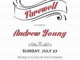 Leaving Party Invitation Elegant Farewell Party Invitation Design Template In Word