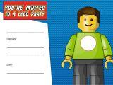 Lego Birthday Party Invitation Free Template Free Printable Lego Birthday Invitation Template